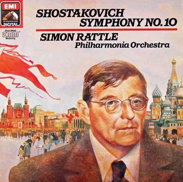 ラトルのショスタコーヴィチ/交響曲第10番 独EMI 3127 LP レコード