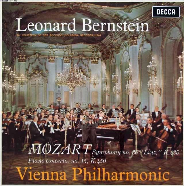 【オリジナル盤】バーンスタインのモーツァルト/ピアノ協奏曲第15番ほか 英DECCA 3127 LP レコード