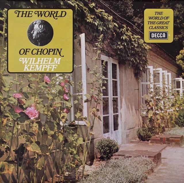 ケンプのショパン/幻想即興曲、ピアノソナタ第2番ほか 英DECCA 3127 LP レコード