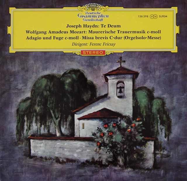 【赤ステレオ/オリジナル盤】フリッチャイのハイドン/テ・デウムほか 独DGG 3127 LP レコード