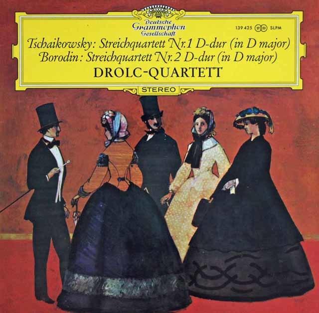 ドロルツ四重奏団のチャイコフスキー&ボロディン/弦楽四重奏曲集  独DGG 3127 LP レコード