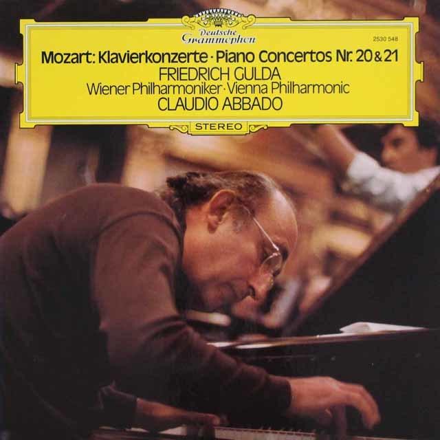 グルダ&アバドのモーツァルト/ピアノ協奏曲第20&21番 独DGG 3127 LP レコード