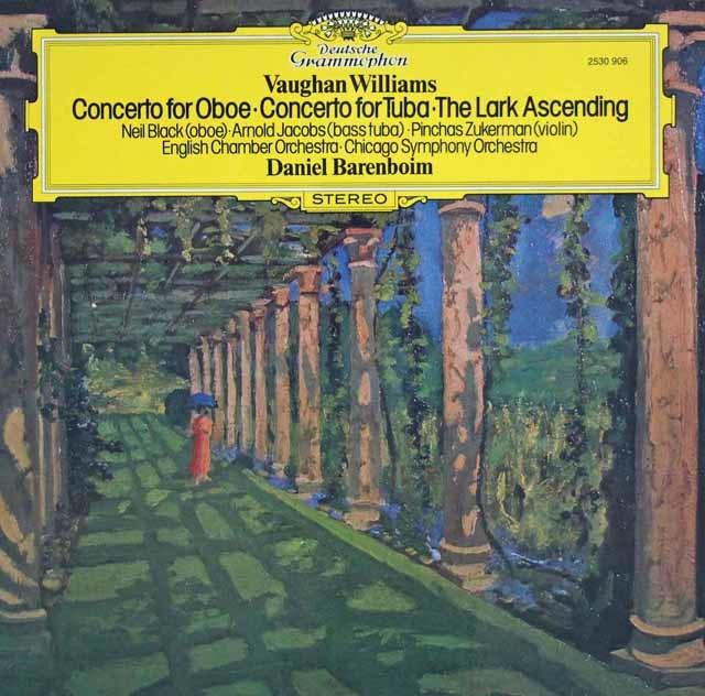 ズッカーマン&バレンボイムのヴォーン・ウィリアムズ/「あげひばり」ほか 独DGG 3127 LP レコード