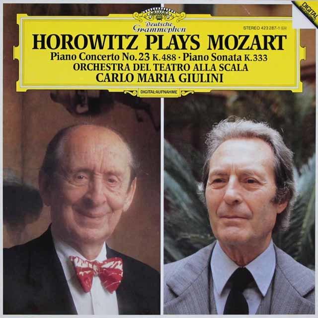 ホロヴィッツ&ジュリーニのモーツァルト/ピアノ協奏曲第23番ほか 独DGG 3127 LP レコード