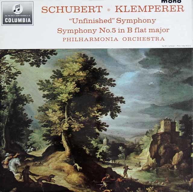 クレンペラーのシューベルト/交響曲第5&8番「未完成」   英Columbia 3128 LP レコード
