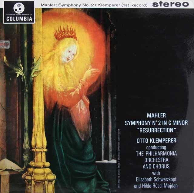 【オリジナル盤】クレンペラーのマーラー/交響曲第2番「復活」  英Columbia 3128 LP レコード