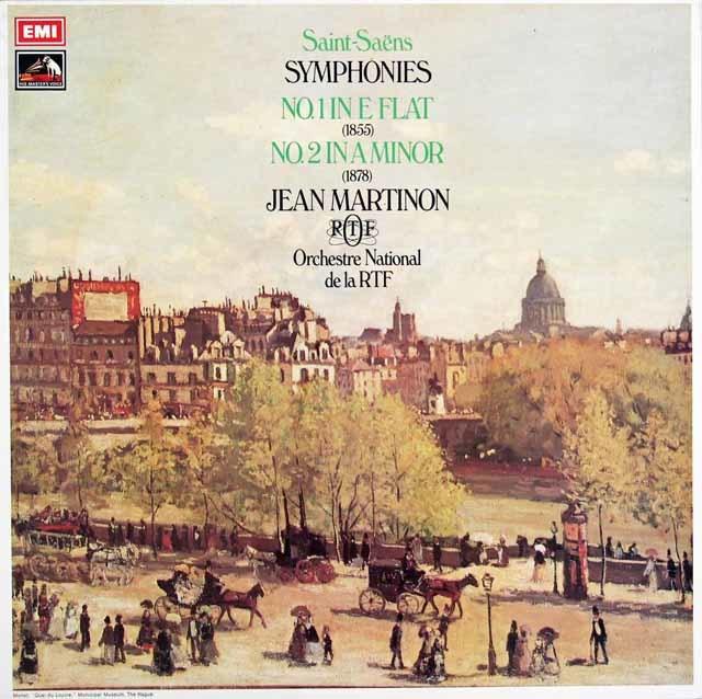 【オリジナル盤】マルティノンのサン=サーンス/交響曲第1、2番 英EMI 3128 LP レコード