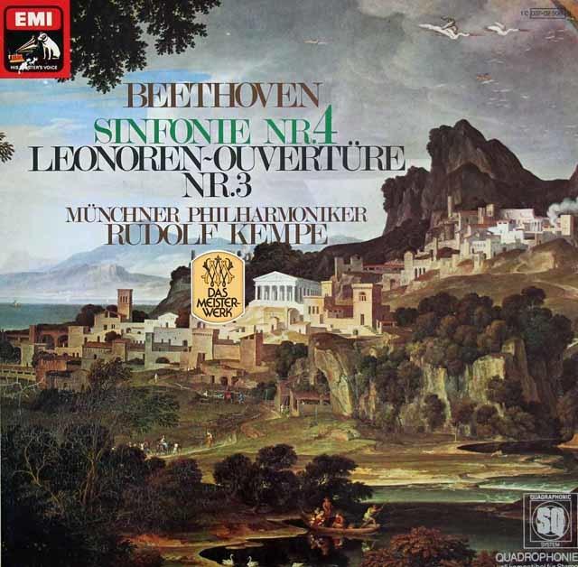 ケンペのベートーヴェン/交響曲第4番ほか 独EMI  3128 LP レコード