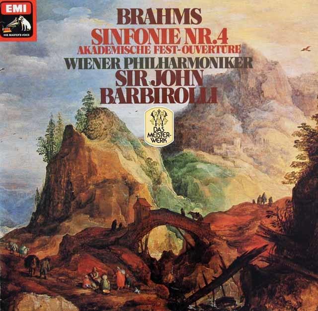 バルビローリのブラームス/交響曲第4番&大学祝典序曲 独EMI 3128 LP レコード