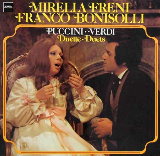 フレーニ&ボニゾッリのプッチーニ&ヴェルディ/オペラ・デュエット集  独Acanta 3128 LP レコード