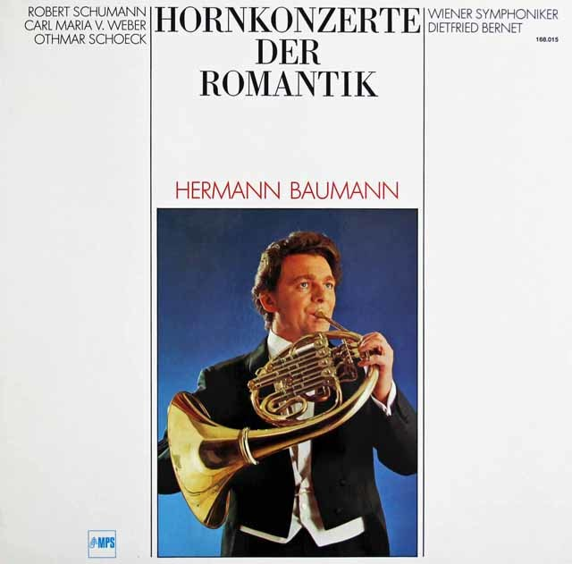 バウマンのシューマン/4本のホルンのためのコンチェルトシュテュックほか 独MPS 3128 LP レコード