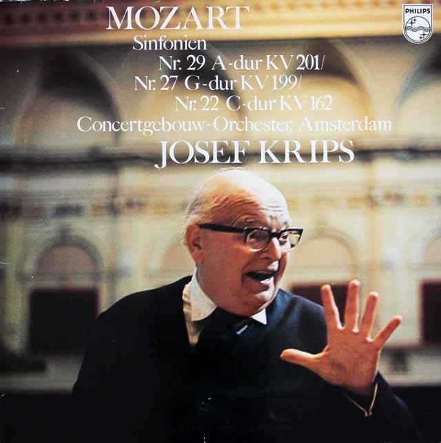 クリップスのモーツァルト/交響曲第29、27&22番 蘭PHILIPS 3128 LP レコード
