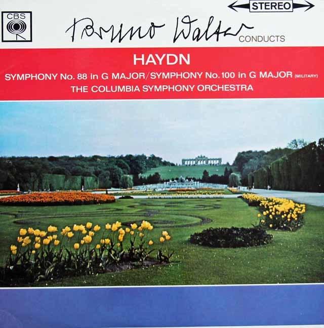 ワルターのハイドン/交響曲第88番「V字」&100番「軍隊」 独CBS 3128 LP レコード