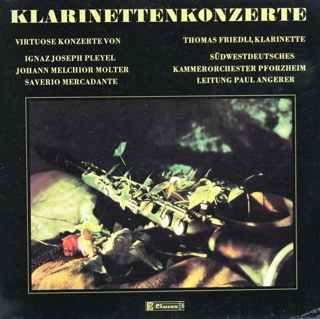 フリードリのプレイエル/クラリネット協奏曲ほか スイスClaves 3128 LP レコード