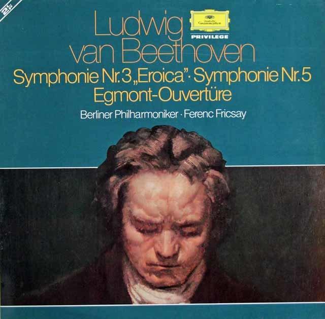 フリッチャイのベートーヴェン/交響曲第3番「英雄」、5番「運命」ほか 独DGG 3128 LP レコード