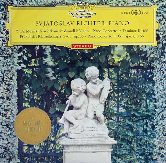 【赤ステレオ/オリジナル盤】リヒテルのモーツァルト&プロコフィエフ/ピアノ協奏曲集 独DGG 3128 LP レコード