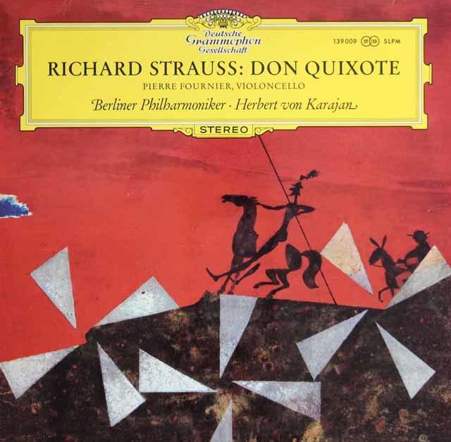 フルニエ&カラヤンのR.シュトラウス/交響詩「ドン・キホーテ」 独DGG 3128 LP レコード
