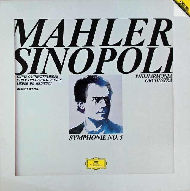 シノーポリのマーラー/交響曲第5番ほか 独DGG 3128 LP レコード
