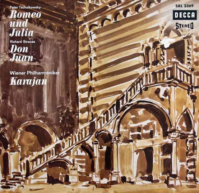 カラヤンのチャイコフスキー/「ロミオとジュリエット」ほか 独DECCA 3128 LP レコード
