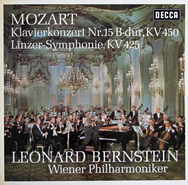 バーンスタインのモーツァルト/ピアノ協奏曲第15番ほか 独DECCA 3128 LP レコード