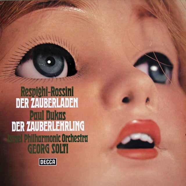 ショルティのレスピーギ/組曲「風変わりな店」ほか 独DECCA 3128 LP レコード
