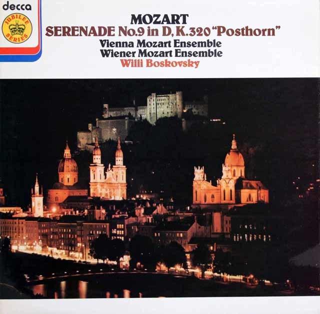 ボスコフスキーのモーツァルト/セレナーデ第9番「ポストホルン」  英DECCA 3128 LP レコード