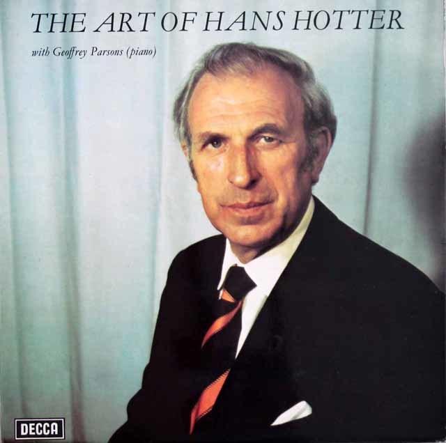 【オリジナル盤】ホッターのヴォルフ&シューベルト/歌曲集 英DECCA 3128 LP レコード