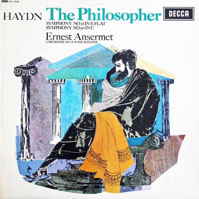【オリジナル盤】アンセルメのハイドン/交響曲第22番「哲学者」ほか 英DECCA  3128 LP レコード