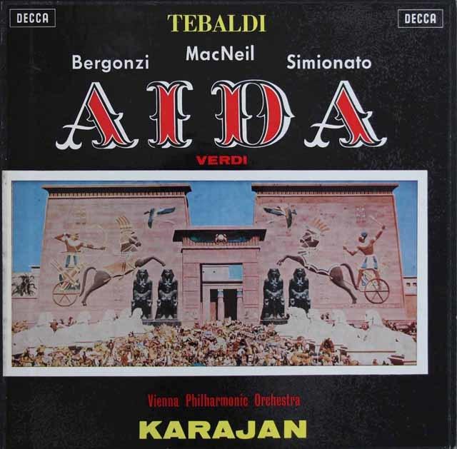 カラヤンのヴェルディ/「アイーダ」 英DECCA 3128 LP レコード
