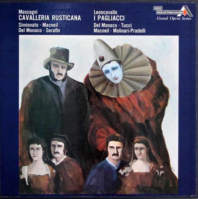 デル=モナコの「カヴァレリア・ルスティカーナ」&「道化師」 英Ace of Diamonds(DECCA) 3128 LP レコード
