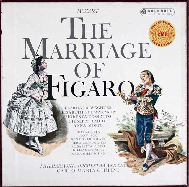 【オリジナル盤】ジュリーニのモーツァルト/「フィガロの結婚」 英Columbia 3128 LP レコード