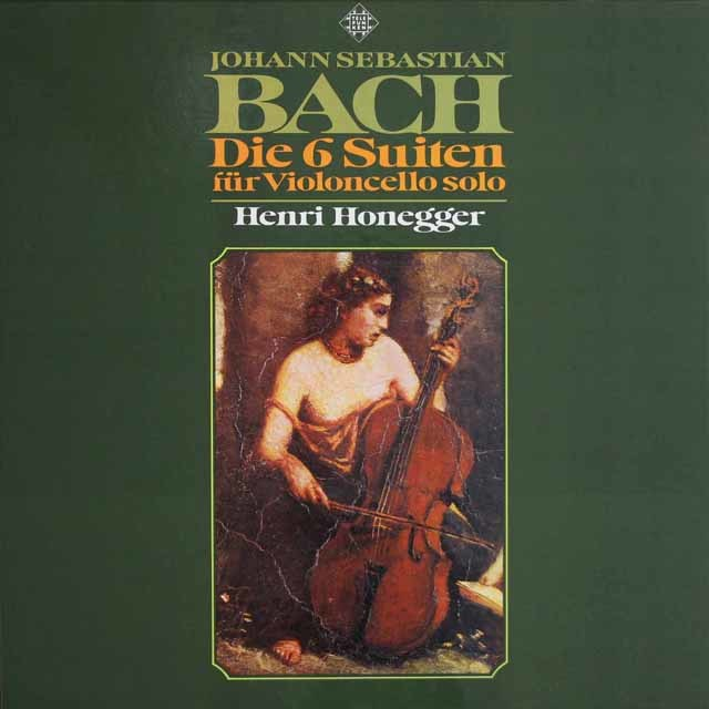 オネゲルのバッハ/無伴奏チェロ組曲 独TELEFUNKEN 3128 LP レコード