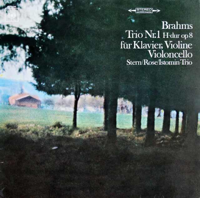 スターンらのブラームス/ピアノ三重奏曲第1番 独CBS 3129 LP レコード
