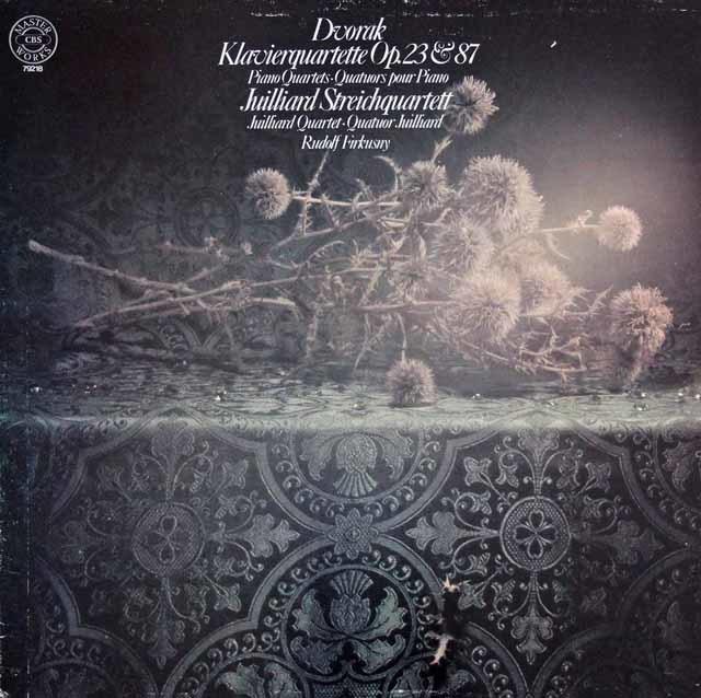 フィルクスニー&ジュリアード四重奏団のドヴォルザーク/ピアノ四重奏曲第1&2番 独CBS 3129 LP レコード