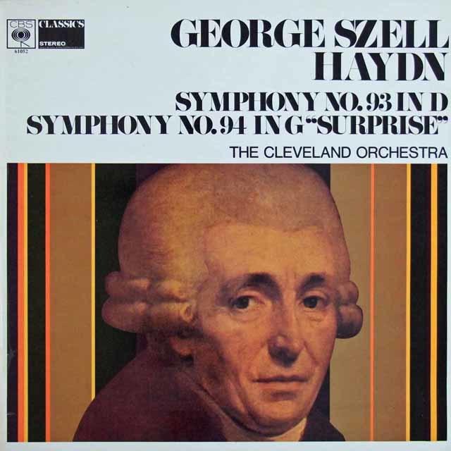セルのハイドン/交響曲第93番 & 94番「驚愕」 英CBS 3129 LP レコード