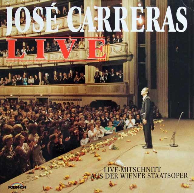 カレーラス/ウィーン国立歌劇場ライヴ 独POLYPHON 3129 LP レコード