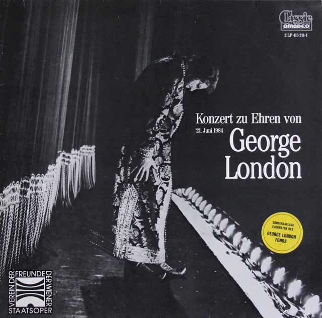 ポップ、グルベローヴァ、ゲッダ、アライサらの「ジョージ・ロンドンを称えるコンサート」 オーストリアamadeo 3129 LP レコード
