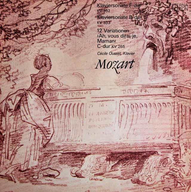 ウーセのモーツァルト/ピアノソナタ第12&13番ほか 独ETERNA 3129 LP レコード