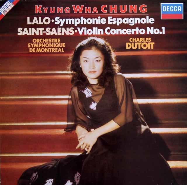 チョン&デュトワのラロ/スペイン交響曲ほか 独DECCA 3129 LP レコード
