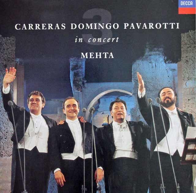 三大テナー&メータのローマ・カラカラ・コンサート 蘭DECCA 3129 LP レコード