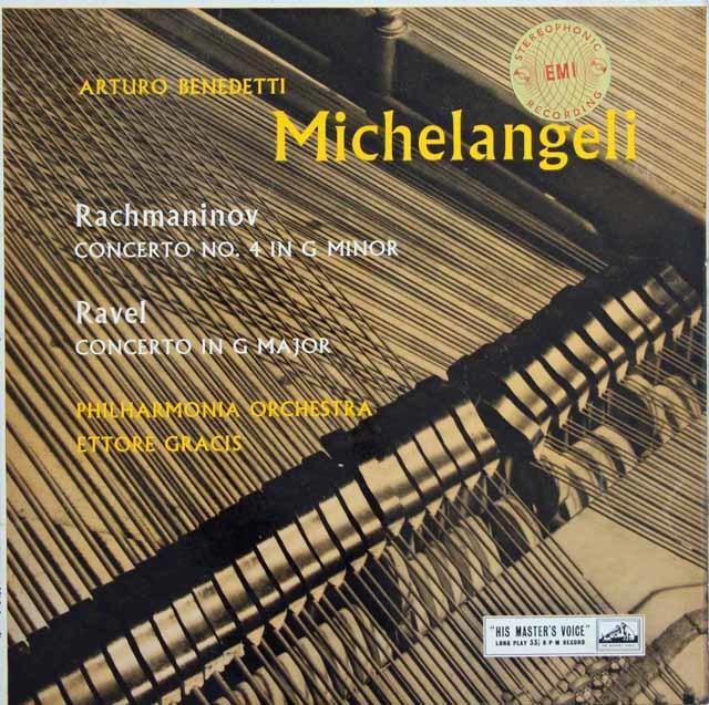 【オリジナル盤】 ミケランジェリ&グラチスのラフマニノフ&ラヴェル/ピアノ協奏曲集 英EMI 3129 LP レコード
