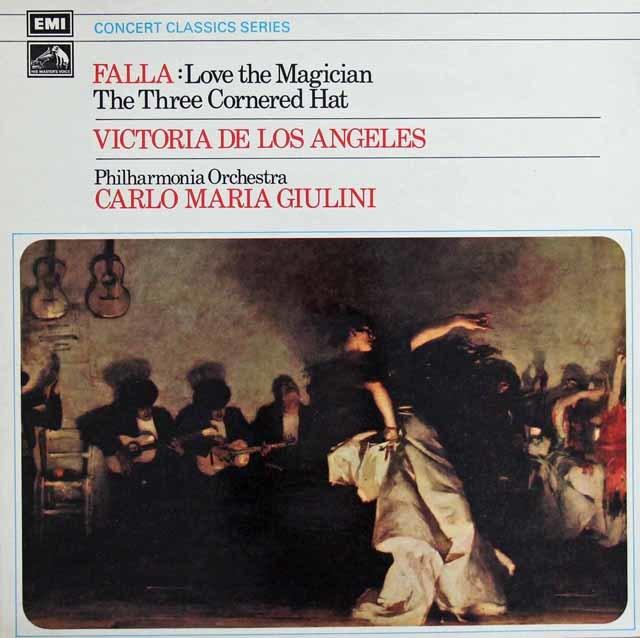 ジュリーニのファリャ/「恋は魔術師」&「三角帽子」 英EMI 3129 LP レコード
