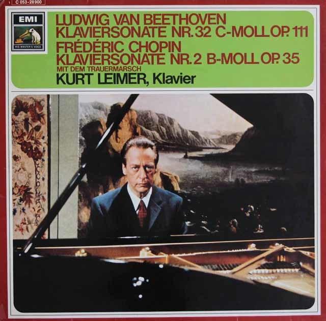 ライマーのベートーヴェン&ショパン/ピアノソナタ集 独EMI 3129 LP レコード