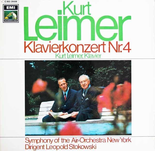 ライマーのストコフスキーのベートーヴェン/ピアノ協奏曲第4番 独EMI 3129 LP レコード