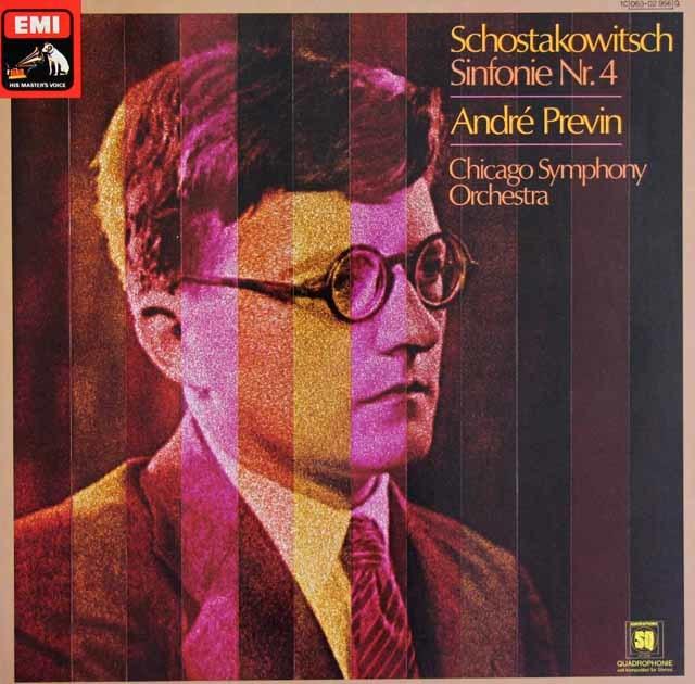 プレヴィンのショスタコーヴィチ/交響曲第4番 独EMI 3129 LP レコード