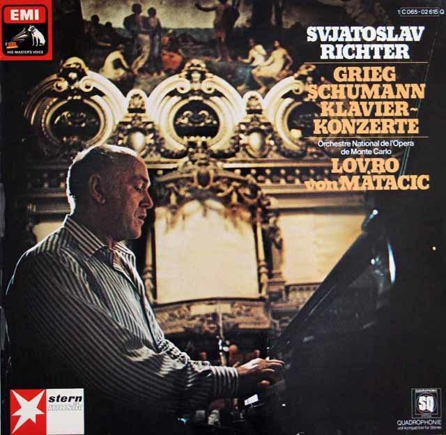 リヒテル&マタチッチのグリーグ&シューマン/ピアノ協奏曲 独EMI 3129 LP レコード