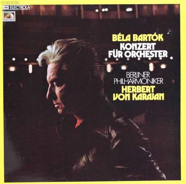 【独最初期盤】 カラヤンのバルトーク/管弦楽のための協奏曲 独EMI 3129 LP レコード