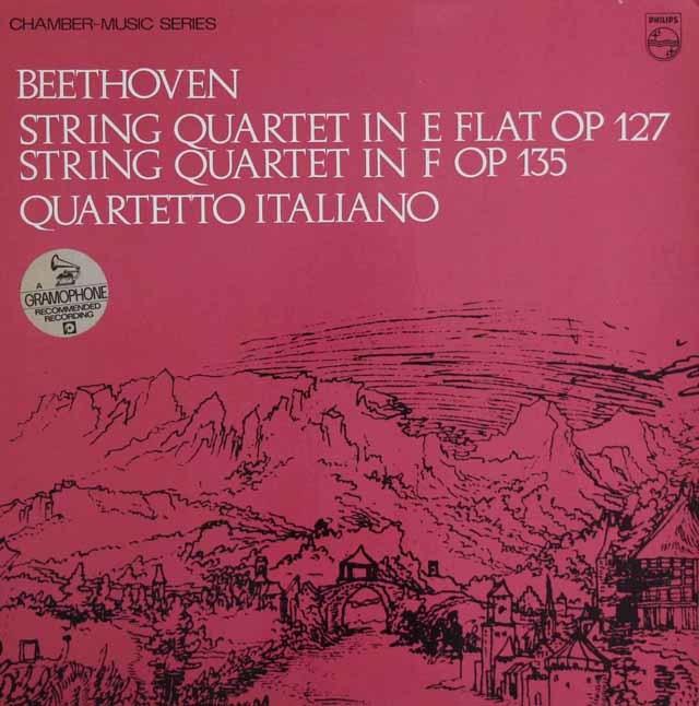イタリア四重奏団のベートーヴェン/弦楽四重奏曲第12&16番 英PHILIPS 3129 LP レコード