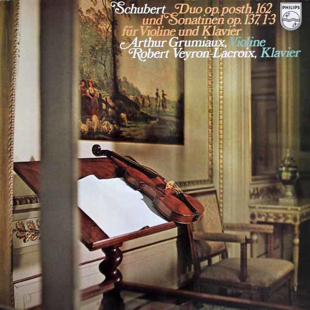 グリュミオー&ラクロワのシューベルト/二重奏曲ほか 蘭PHILIPS 3129 LP レコード