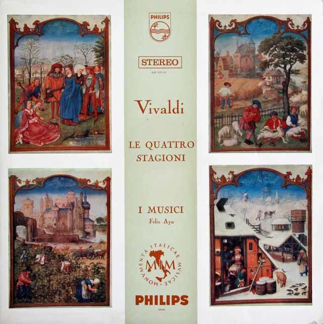 アーヨ&イ・ムジチ合奏団のヴィヴァルディ/「四季」 蘭PHILIPS 3129 LP レコード